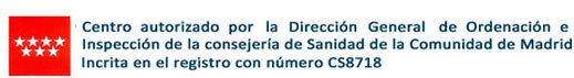 Centro autorizado por la dirección general de sanidad en Madrid