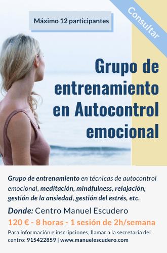 Grupo de entrenamiento en autocontrol emocional